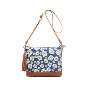 Spring Leisure Canvas Floral Tassel Designer Messenger Bag (MBNO042123) pictures & photos