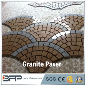 Rusty and Black Granite Meshed Cobblestone in Driving Way Paver pictures & photos