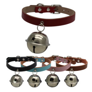 Design Classic Real Leather Collars with Bells for Cats pictures & photos