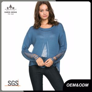 Ladies Online Distressed Fashion Knitwear Clothing Apparel pictures & photos