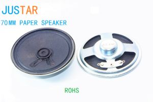 70mm 4-50ohm 0.5-2W Paper Cone Speaker with RoHS pictures & photos