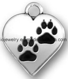 Laser Engraving Jewelry Paw Print Heart Charm Wholesale pictures & photos