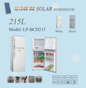 12V/24V 215L DC Solar Freezer Refrigerator Home Use pictures & photos