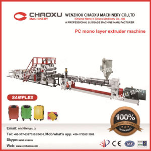 PC One Layer Plastic Sheet Extruder Machine pictures & photos