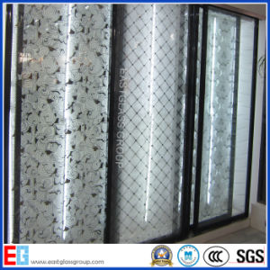 3-12mm Finger-Free Clear Frosted Glass/Pattern Acid Etched Glass/Decorative Art Glass pictures & photos
