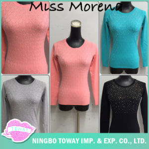 Women Black Fine Stitches Thin Knit Long Sweaters for Spring pictures & photos