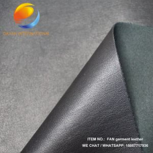Garment PU Leather with Embossed Surface Fac28 pictures & photos