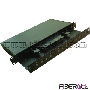 1u 24 Fibers Rack Mounted Fiber Patch Panel Fixed Type pictures & photos