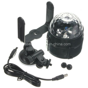 Hot Sale 5V 3W Car DJ Light Mini RGB LED Disco DJ Flash Light for The Car LED Magic Ball Light pictures & photos