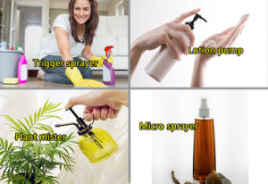 Dischange Rate 0.8ml/T Plastic Trigger Sprayer Head for Cleaner pictures & photos