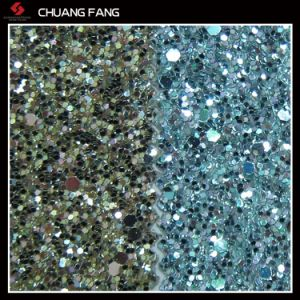 Durable Glitter PU Decorative Leather pictures & photos