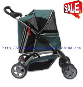 4 Wheels Dog Outdoor Carrier Pet Stroller Bb-PS03 pictures & photos