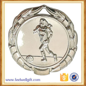 Wholesale Zinc Alloy Silver Plated Football Soccer Medals pictures & photos
