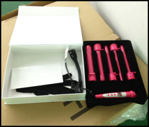 Electroplating Gloden Changeable Barrel Curling Iron (A125) pictures & photos