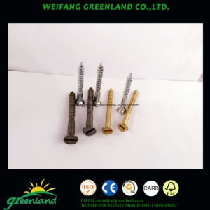 Slotted Raised Countersunk Head Wood Screw/Slotted Oval Head Wood Screws/Oval Countersunk Head Wood Screws/Cross Recessed Raised Countersunk Head Wood Screws pictures & photos