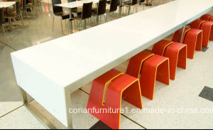 Long Bat Table Fast Food Restaurant Long Dining Table pictures & photos