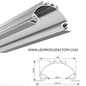 Alp059-R LED Channel Profile Recessed Aluminum Extrusion for LED Strips pictures & photos