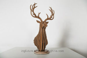 Fashion Decoration Gfits Plywood DIY Deer Head pictures & photos