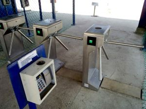 Bridge Type Chassic Access Control Turnstiles for Attendance pictures & photos