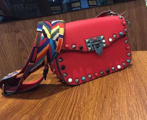 2017 New Colorful Studded Women Bag Wide Strap Crossbody Bag Hcy-5029 pictures & photos