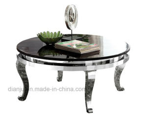 Round Black Marble Home Furniture Coffee Table (CT902L) pictures & photos