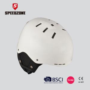 Speedzone White Color Unisex Ski/Snowboard Helmet pictures & photos