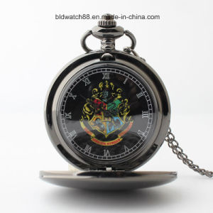 Black Tone Plain Pocket Watch with Picture pictures & photos
