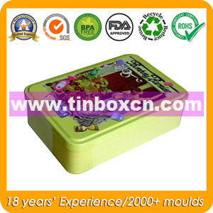 Food Grade Rectangular Tin Container for Cookie Biscuit, Food Tin pictures & photos