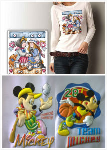 Puff Embossed Printing Heat Transfer Sticker with Colourful Cartoon Logo Printing pictures & photos