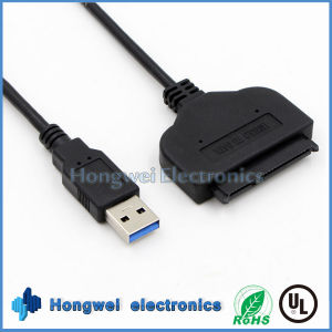 High Speed 7+15 Pin USB3.0 to SATA Converter USB Cable pictures & photos