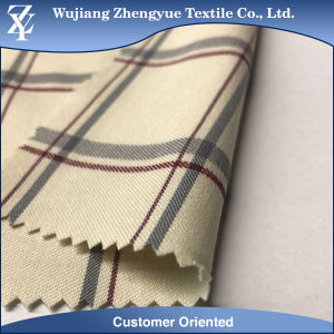 Twill Yarn Dyed Nylon Polyester Spandex Checked Fabric for Woman Pants pictures & photos
