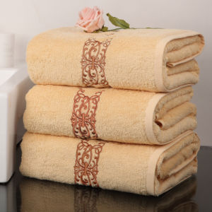 Promotional 5 Star Hotel 100% Cotton Terry Bath Towel (DPF201615) pictures & photos