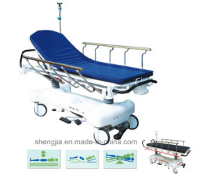 Sjm006-a Luxury Hydraulic Rise-and-Fall Stretcher Cart