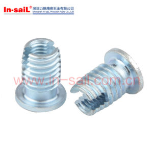 Self-Cutting Threaded Inserts Steel Case-Hardened Zinc Plated Blue pictures & photos
