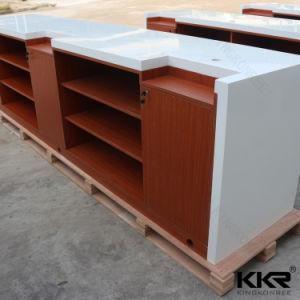 Stone Desk Modern Customized Solid Surface Reception Desk pictures & photos