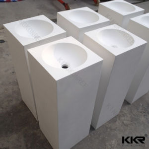 Luxury Design Hotel Furniture Artificial Sanitary Ware Wash Basin pictures & photos