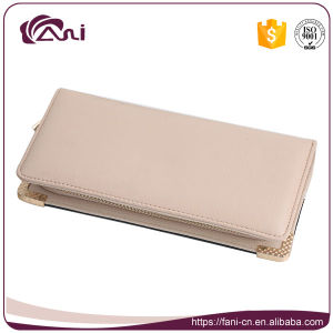 Big RFID Wallets for Women, Zip PU Leather Wallet with Fashion Design pictures & photos