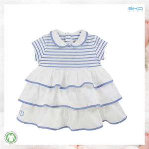 White Baby Garment 100% Organic Cotton Baby Dress pictures & photos