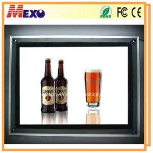 Crystal Photo Frame LED Slim Light Box for Drink Bar Acrylic Advertising Billboard pictures & photos