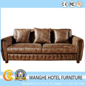 Solid Wood Leather Seat Leisure Sofa Chair for Hotel pictures & photos