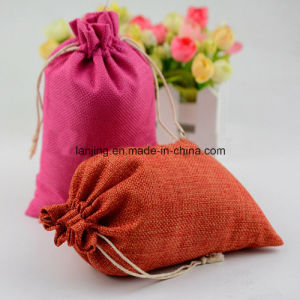 Eco Freindly Promotional Drawstring Jute Bag Jute Gunny Bag Used Jute Sack Wholesale pictures & photos