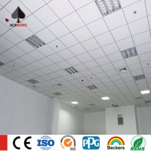 300*300 Perforated Sound Absorbtion Clip in Aluminium Ceiling Tiles for Hotel Meeting Room pictures & photos