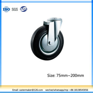 Swivel Small Rubber Castor 200mm, Steel Core, Roller Bearing pictures & photos