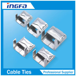 Polyester Coated Stainless Steel Banding Buckle pictures & photos