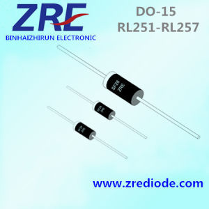 2.5A Rl251 Thru Rl257 General Purpose Rectifiers Diode Do-15 Package pictures & photos