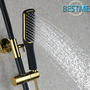 Black Color Luxury Brass Rain Shower Set (BF-60036K) pictures & photos
