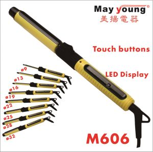 2017 New 9 Sizes LCD Display Hair Curler Rotating Hair Curling Iron pictures & photos