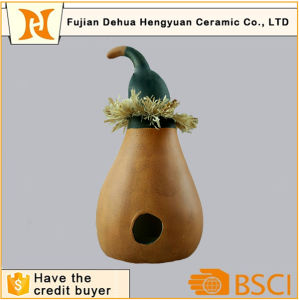 Pumpkin Ceramic Candle Holder for Halloween Decoration pictures & photos