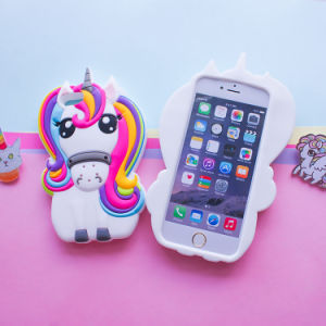 Unicorn Horse Cartoon Soft Silicone Cases for iPhone 7 7plus S8 S7edge Mobile Phone Cover