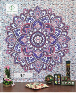 2017 Hot Sell Indian Mandala Square Tapestry with Printed Yoga Mat pictures & photos